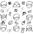 Doodle set of objects for kids vector image vector image