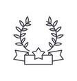 emblem of victory line icon concept emblem of vector image