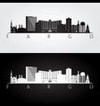 fargo usa skyline and landmarks silhouette vector image