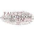 faucet word cloud concept vector image vector image