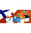 finland education school university concept with vector image vector image