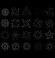 geometric pattern symbols fractale pentagram vector image