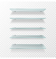 glass shelves transparent wall product display vector image vector image
