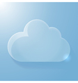Glossy blue cloud icon with light vector image vector image