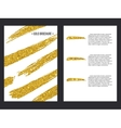 golden brochure template 1 vector image