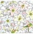 hand drawn tulip seamless pattern vector image
