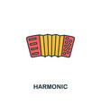 harmonic icon creative 2 colors design vector image vector image