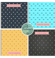 hipster background summer time pattern set vector image