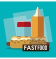 Hot dog soda and fast food design vector image vector image