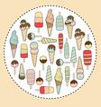 Ice cream in circle