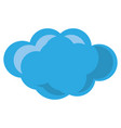 isolated big cloud vector image vector image