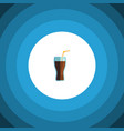 isolated cup flat icon fizzy drink element vector image vector image