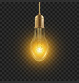 light bulb glowing shine lamp bulb vector image
