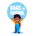 little student boy black with school bag vector image