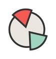 Market Pie Chart vector image vector image