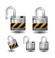 Metall lock vector image vector image