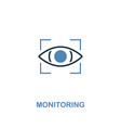 monitoring icon in two colors premium design from vector image vector image
