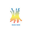 music colorful wave logo modern audio element vector image vector image