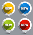 New Circle Labels - Stickers vector image