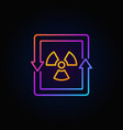nuclear energy concept colorful icon vector image vector image