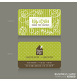 Organic foods shop or vegan cafe business card vector image vector image