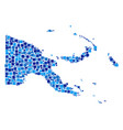 papua new guinea map mosaic of squares vector image