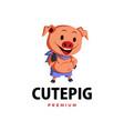 pig thumb up mascot character logo icon vector image vector image
