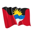Political waving flag of antigua and barbuda vector image