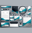 professional business stationery design made with vector image vector image