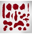 Realistic blood drops set of vector image vector image