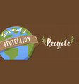 recycle banner for environmental protection vector image vector image