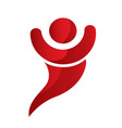 red person figure icon vector image
