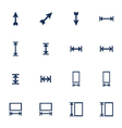 Resize icons vector image