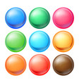 round spheres set set opaque multicolored vector image