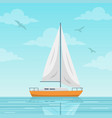 sailboat on sea vector image