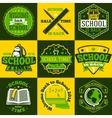 School labels set With schoolbus book vector image vector image