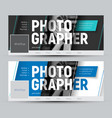 set of banner in the style of material design for vector image vector image