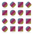 set of labels pattern vector image