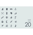 Set of skiing icons vector image vector image