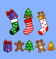 socks and gifts vector image vector image