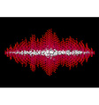 Sound waveform made of chaotic balls vector image vector image