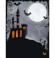 Spooky Halloween castle background vector image vector image