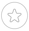 star icon black color in circle isolated vector image vector image