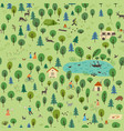 summer forest seamless pattern vector image vector image