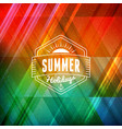 summer holidays poster typographic summer badge vector image vector image