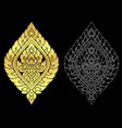 thai art style ornament gold color and out line vector image vector image