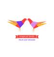 tropical birds logo vector image vector image