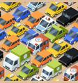 urban traffic pattern jammed city transport cars vector image