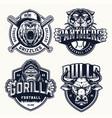 vintage sport teams emblems set vector image vector image