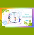work time management organization banner vector image